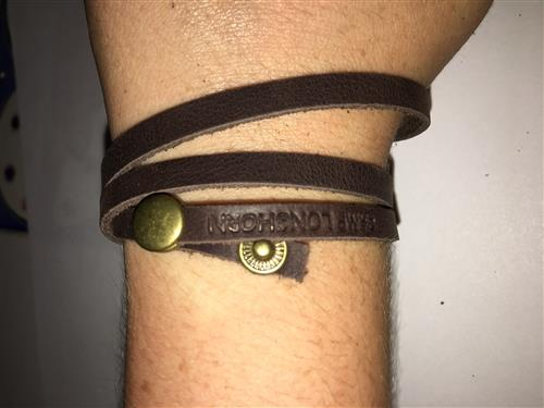 CAMP JEWELRY: Wrap Leather Bracelet