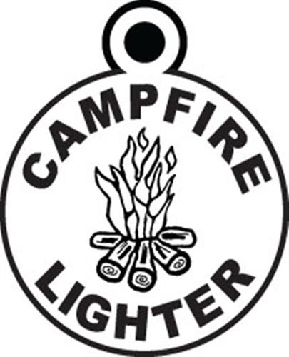 CAMP JEWELRY: Campfire Lighter Silver Charm