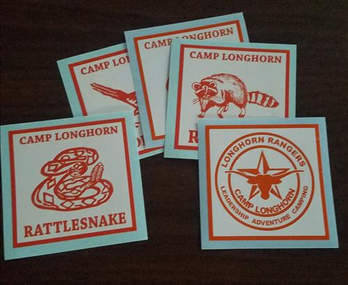 Decal: Boys camp cabins